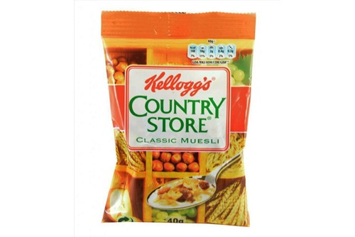 CEREALES COUNTRY STORE   PORTION PACK  Caja 32x40 gramos  KELLOGS_420737_8712 Madrid Distribuidor Comercial Distribuidora Alimentacion